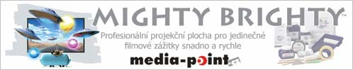 tekut� pl�tna Mighty Brighty, projek�n� n�t�ry, dom�c� kino)